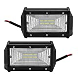 Led Arbeitsscheinwerfer 12v 72W für Auto Offroad | Zusatzscheinwerfer Zusatzbeleuchtung | IP67 Wasserdicht 6000K 24 Cree LEDS 10800LM (2 Stück)