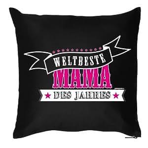 Dekokissen: Mama - Kissen für die beste Mama der Welt Größe: 40 cm x 40 cm Farbe: schwarz