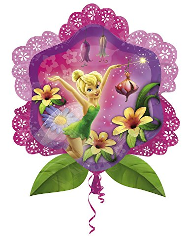 Anagram 2733901 - Party und Dekoration - Folienballon Super Shape - Disney Fairies - Tinker Bell, circa 63 x 68 cm