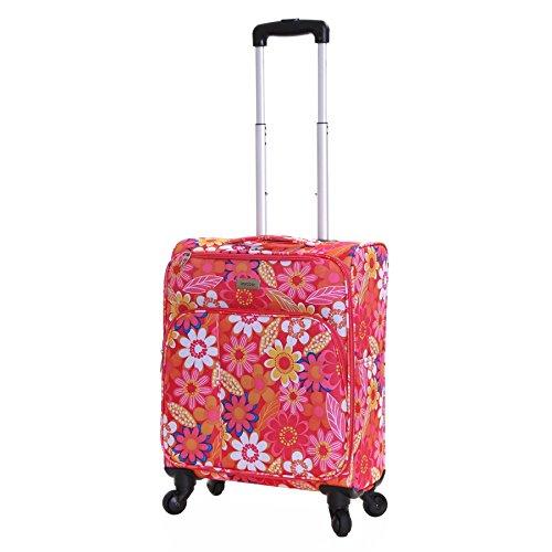 Karabar Alma 55cm maleta ruedas del hilandero, Flores Rosadas