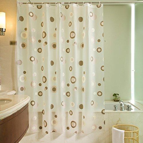 Rideaux de douche Le rideau en douche PEVA étanche plus la salle de bains épaisse baignent la mode de sécurité durable Durable ( taille : 180X180CM )