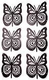 Magnete für Fliegengitter Durchlaufschutz Reparaturset und Vogelschlagschutz in einem (3 Satz Schmetterling schwarz-weiß)