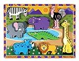 Melissa & Doug Holzpuzzle mit klobigen Teilen - Safaritiere (8 Teile)