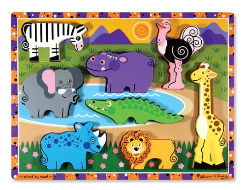 Melissa & Doug 13722 - Rompecabezas grande de madera - animales de safari