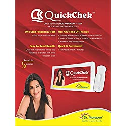 Quickchek Dr. Morepen's Pregnancy Test Kit (Pack Of 5)
