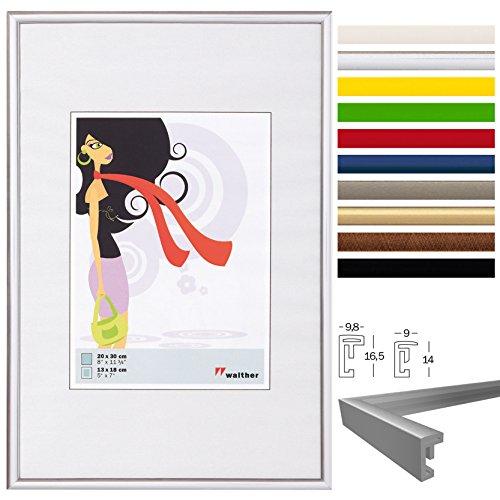 WOLTU #315 Bilderrahmen Bildergalerie Fotogalerie , Foto Collage Galerie , Kunststoff und Echtglas , New Life Style , Silber , 10x15 cm