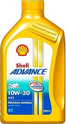 Shell Advance AX5 550031424 10W-30 API SL Premium Mineral Motorbike Engine Oil (900 ml)