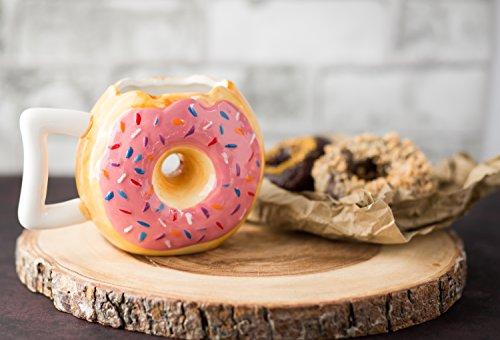 Zoom IMG-1 ceramic donut mug delicious pink