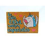 KOOK TIME Koko Doormats. Felpudo para Entrada de Casa Original, Unicornio Somos Especiales, Fibra de Coco y PVC, 40x60cm
