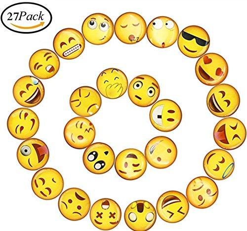Kühlschrank Magnete ,Emoji Kühlschrank PVC Magnet Sticker Magnete Set Lustige Deko. für Büro/Küche/Pinnwand/Kalender/Wohnung/Klassenzimmer/Tafel/Geschenk (27 Stück) Kühlschrank-magnete Buchstaben