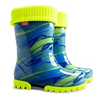 Wellington Boots Boys Girls Kids Fleece-Lined New Mo1 (3-4 UK( todler) 20-21 EU - 13.3cm)