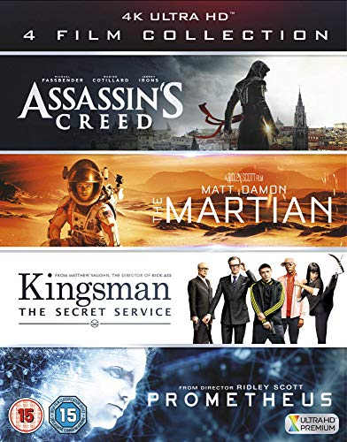 UHD 4 Film Collection (Assassin's Creed, The Martian, Kingsman & Prometheus) [4K Blu-ray] [UK-Import]
