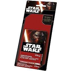 Star Wars - Baraja infantil con 40 cartas, diseño Episodio VII (Naipes Heraclio Fournier 1031591)