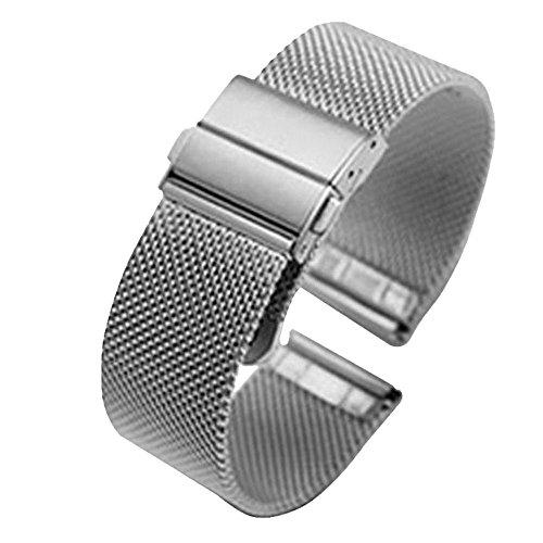 16mm Silber Metallgewebe Uhrenarmband Bänder Armbänder High-End massiver Edelstahl gefaltet - Watch Band 16mm Timex