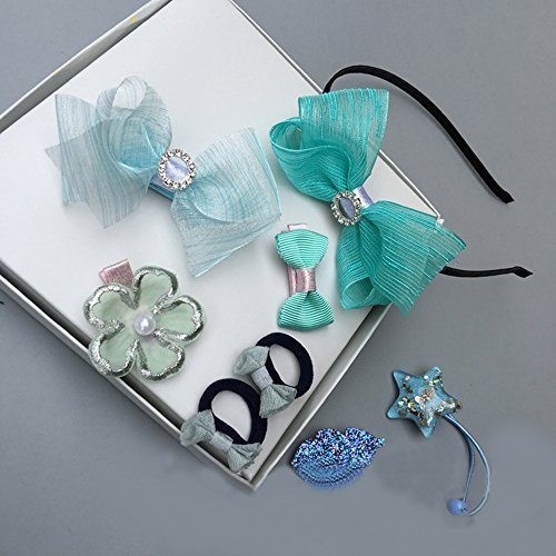 Leo RF Baby Girls Hair Clips, Hair tie Accessories for Baby Girls Kids Gift (Blue)