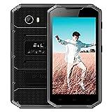 EL W7 4G LTE Outdoor Handy Ohne Vertrag, IP68 Wasserdicht, Stoßfest und Staubdicht 5,0 Zoll 16:9 HD Display Quad-Core 1GB+16GB Android 6.0 Dual-SIM 5MP+8MP Kameras 2800mAh Akku Smartphone GPS Kompass