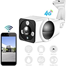 HD 1080P Mini cámara de vigilancia 3G 4G SIM Card IP Camera Outdoor Bullet Cámara Wireless