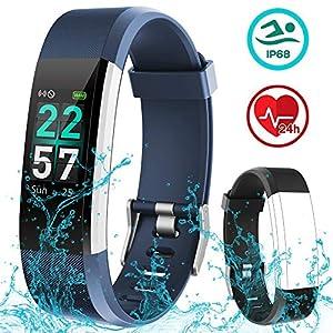 Rayfit Pulsera Actividad Inteligente Reloj Deportivo Impermeable Fitness Tracker Monitor de Ritmo Cardíaco Podómetro Contador de Calorías Pasos Monitor de Sueño Pulsómetros para Niños Mujeres Hombres 5