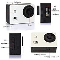 1080p Full HD 12MP CMOS H.264 Sports Action DV Camera Waterproof Camcorder Car DVR SJ4000 with accessories - SILVER