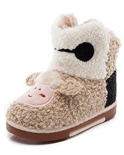 Minetom Unisexe Bébé Fille Garçon Bottes De Neige Semelles Souples Chaussures Dessin Animé Enfants Bottes