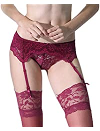 3e891a2cadc Amazon.co.uk  Red - Stockings   Garters   Lingerie   Underwear  Clothing
