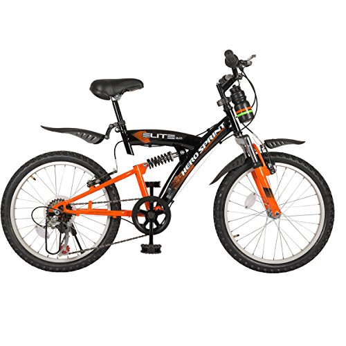 Hero Sprint 20T Elite 6 Speed Junior Cycle - Black & Orange (15' Frame)
