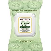 Burt's Bees Pack of 8: Burts Facial Twlette Cuke Size 30ct Burts Cleasing Towel Facial Cuke/Sage 30ct