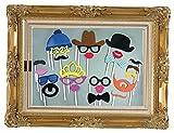 Stillshine - Photo Booth Props DIY Funny Máscara Foto Accesorios para la decoración de la Fiesta de cumpleaños Niños Favores Fotografía Eventos Suministros (Estilo1)