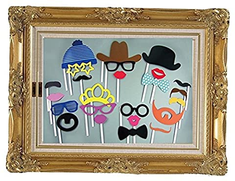 Stillshine - Photo Booth Props ,DIY Funny Mask Photo Props for Decoration Birthday Party Kids Favors Photography Event Supplies (Style 1)