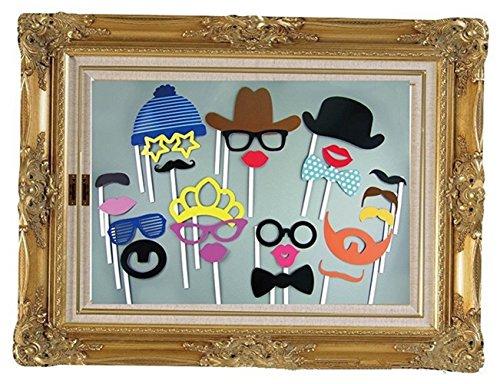Stillshine - Foto Booth Stützen, DIY Lustige Maske Foto Stützen zeitsdekoration Geburtstagsfeier Kinder Gefälligkeiten Fotografie Event Supplies (Stil1) (Diy Batman Maske)