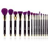EgoEra 15 Pièce Pinceaux Maquillage Kit Pinceau de Maquillage Brosse Cosmétique Brosses Maquillage Set Professionel Fondation Rougir Yeux Poudre Teint brosse, Violet