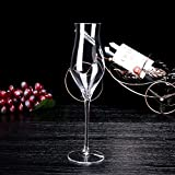 XBJBPL Rotweingläser/Sektgläser/Rotweinglas,Manueller Blasen-Becher Keine Blasen Rotweinglas Bleifreier Kristall Transparenter Diamant Weinglas