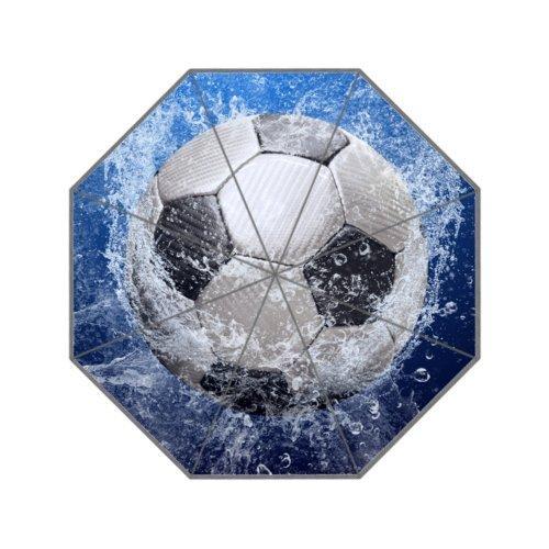 Fußball Fußball Faltbarer Regenschirm mit Antirutsch-Griff Regenschirme für Business und Reisen,...