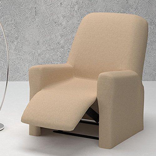 Jarrous Funda de Sillón Relax Completo Elástica Modelo ARUCAS, Color Beige C/2, Medida 70-100cm