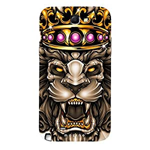 Mozine Golden Ruby Lion printed mobile back cover for Samsung Note 2