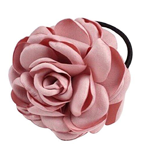 Elastico per capelli gemini _ mall elegante per donna, fascia per capelli, corda elastica con fiore, per la coda di cavallo, accessorio per capelli