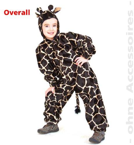 Farmer Overall Kostüm - Fasching Karneval Kinder- Kostüm Overall Giraffe mit Kapuze: Größe: 116