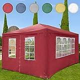Miadomodo – Carpa pabellón / Carpa de jardín de dimensión 3 x 4 m – color rojo