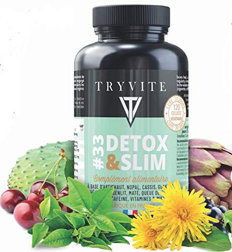 Cure detox foie:bruleur de graisse:perdre du poids:artichaut,thé vert,guarana,pissenlit,cassis,zinc,queue de cerise,nopal,bromelaine,maté,vitamines b3, b6, b9: 120 gélules végétales:Fabriqué en FRANCE