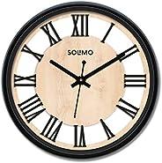 Amazon Brand - Solimo 12-inch Wall Clock - Roman Wheel (Silent Movement)