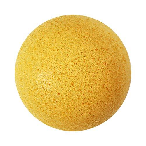 Konjac Gesichtsschwamm - Natürliche Organic Skincare Gesicht Schwämme für die Sanfte Reinigung und Gesichtspeeling und Tiefenreinigung, Ingwer gelb -