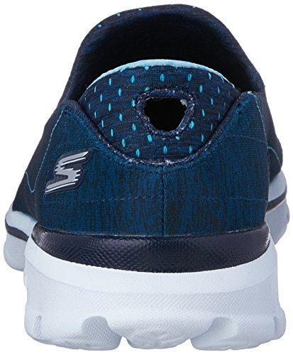 Skechers GO Walk 3 Elevate Rund Textile Slipper Navy/Blue