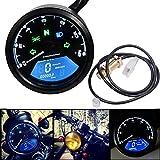Lanceasy Contachilometri Moto, Digitale LCD Tachimetro del Motociclo Universale Contachilometri Moto Retroilluminato Contagiri mph