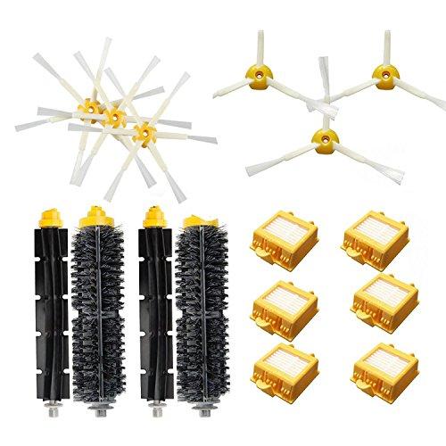 Gosear Brosses Latérales + Filtre + Brosse à Poils pour Batteur Kit de Remplacement Pièces Réglées pour iRobot Roomba Série 700 Aspirateur Robots 760 770 780 790