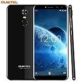 4G Telephone Portable Debloqué Pas Cher,Oukitel C8 Smartphone 5.5 pouces (18: 9 écran HD)Android 7.0 2 Go de RAM + 16 Go ROM 3000 mAh Batterie 13MP + 5MP Caméra-Noir