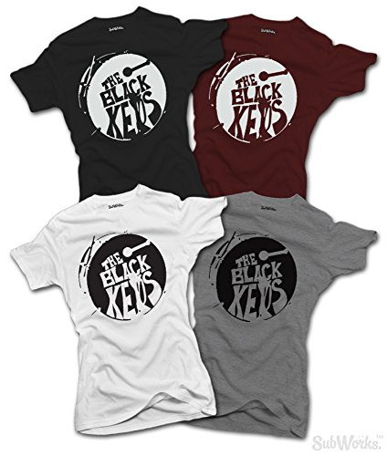 Ladies The Black Keys T-SHIRT Turn Blue Band Music (Small, White) (Frauen T-shirt Band Music)