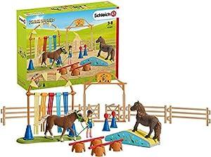 Schleich- Colección Farm World Entrenamiento Agility para Ponis, 53 cm (42481)