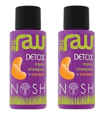 Nosh Detox - 'Raw Detox' 2 x 50ml Organic Fresh Wheatgrass Juice with Mandarin from Nosh Detox