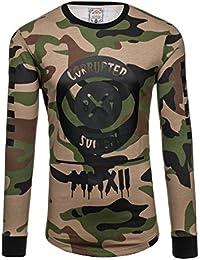 BOLF – Sweat-shirt – Manches longues – U-neck – Homme 1A1