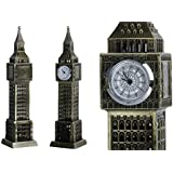 "'Happy Selling' London's Big Ben Clock Tower Showpiece With A Watch, London Fabulous Big Ben Tower Clock Collectible Showpiece - 18 Cm (7"") Antique Bronze Big Ben Statue, A Statue Of London Landmark Model Glass Figure Home Office Decorative Showpiece"